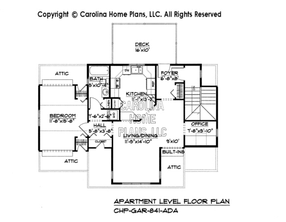 GAR-841 Upper Level Apartment Plan