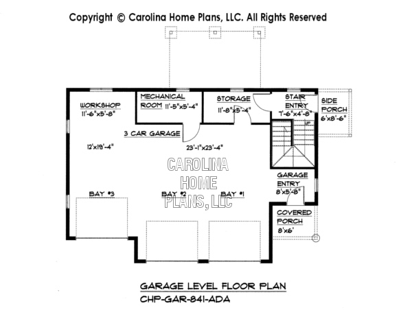 GAR-841 Lower Level Garage Plan