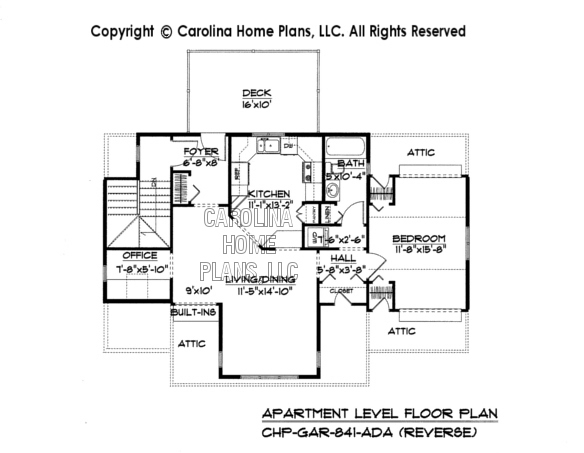 GAR-841 Reverse Upper Level Apartment Plan
