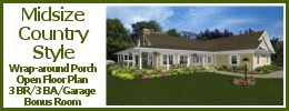 MS-2390 Midsize Country Style House Plan