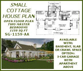 SG-1159-AA Samll Cottage House Plan House Plan
