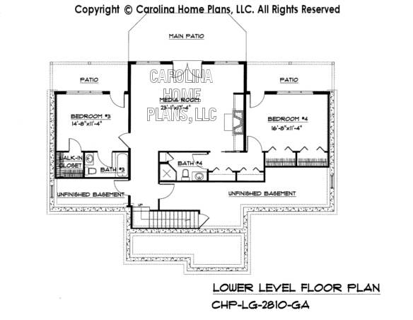 LG-2810 Lower Level Floor Plan