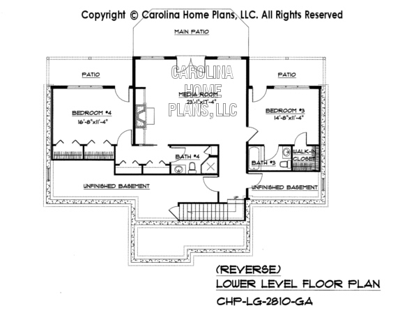 LG-2810 Reverse Lower Level Floor Plan