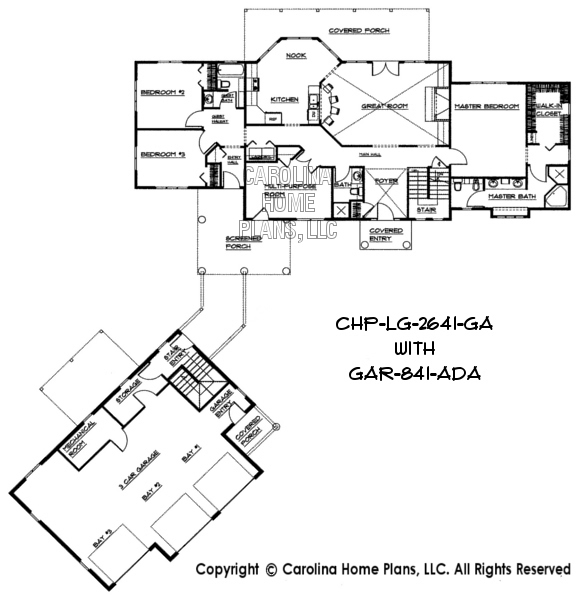 House and Garage layout