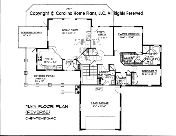 MS-1812 Reverse Main Floor Plan