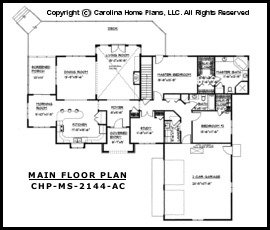 MS-2144-AC Main Floor Plan