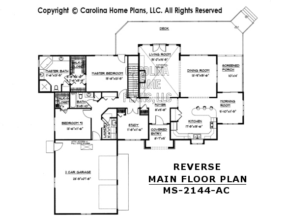 MS-2144 Reverse Main Floor Plan