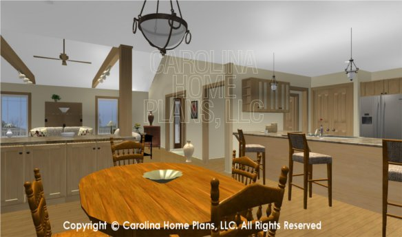 MS-2283-AC 3D Dining to Living Room and Kitchen