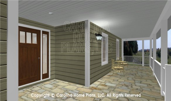 MS-2283-AC 3D Covered Front Porch