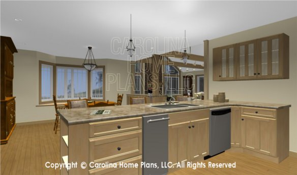 MS-2283-AC 3D Kitchen to Dining Room and Living Room