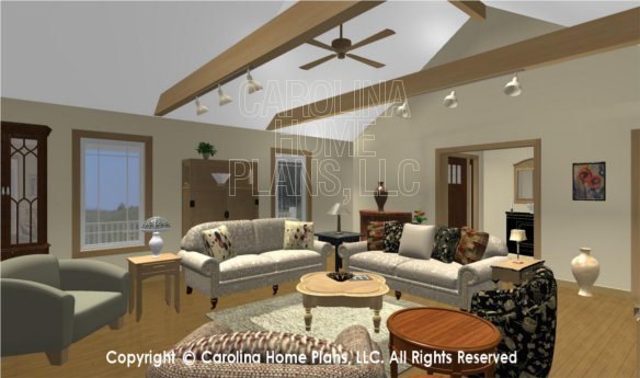 MS-2283-AC 3D Living Room to Entry Foyer