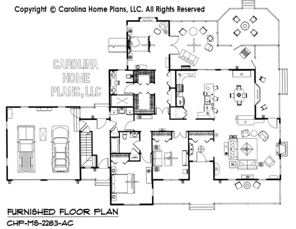 MS-2283-AC Furnished main Floor Plan