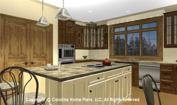 MS-2379 3D Kitchen Island and Pantry