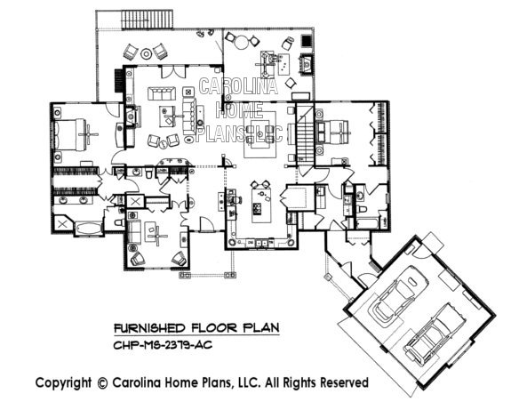 MS-2379-AC Furnished main Floor Plan