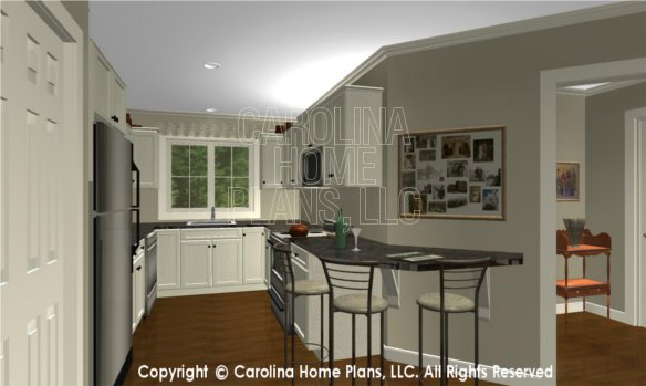 BS-1477-2715 3D Apartment Foyer to Kitchen