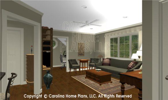 BS-1477-2715 3D Apartment Foyer to Living Room