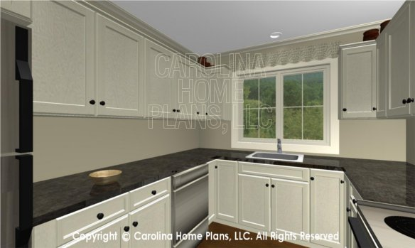 BS-1477-2715 3D Apartment Kitchen, DW and Sink