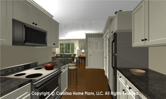 BS-1477-2715 3D Apartment Kitchen to Foyer