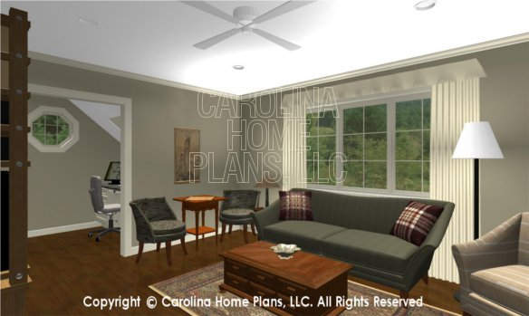 BS-1477-2715 3D Apartment Living Room to Office