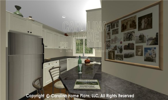 BS-1477-2715 3D Apartment Lunch Counter to Kitchen