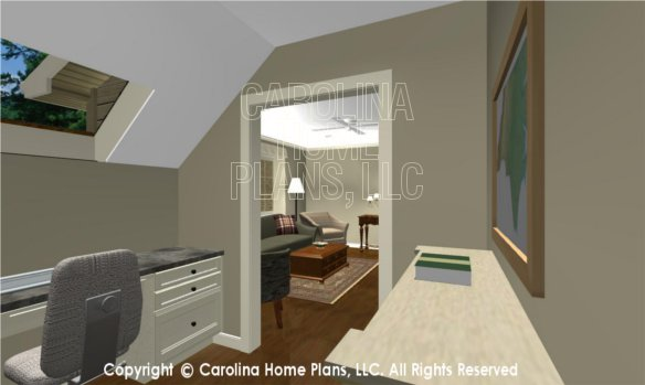 BS-1477-2715 3D Apartment Office to Living Room