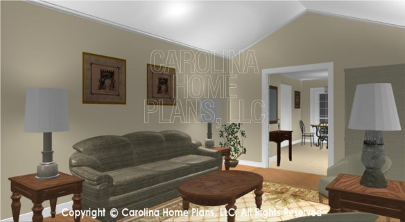 SG-1016 3D Living Room to Entry Hall