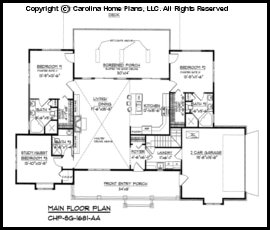 Small Country Ranch Style House Plan Sg 1681 Sq Ft Affordable Small Home Plan Under 1700 Square Feet