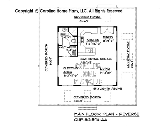 SG-576 Reverse Main Floor Plan