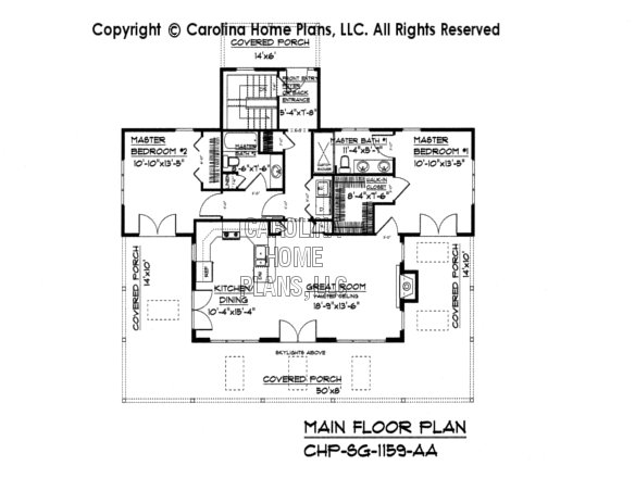 SG-1159 Main Floor Plan