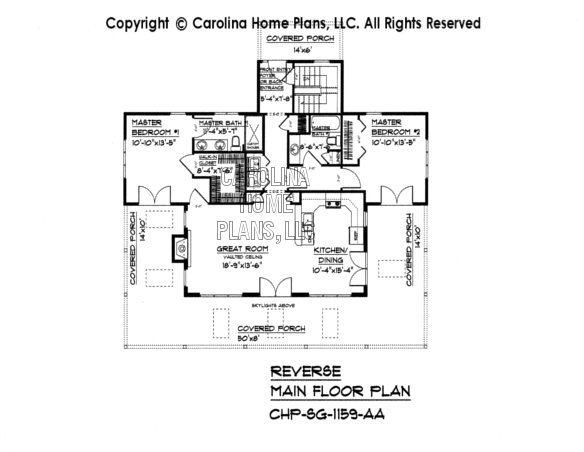 SG-1159 Reverse Main Floor Plan