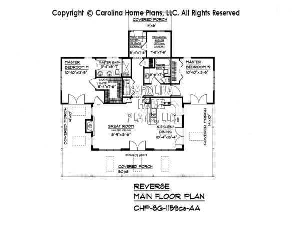 SG-1159 Reverse Main Floor Plan-crawl/slab