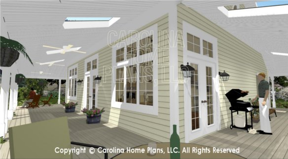SG-1280 3D Wrap-around Porch with Skylights