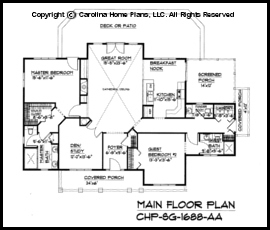 SG-1688 Main Floor Plan