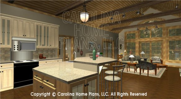 SG-1799 3D Kitchen to Study and Porch
