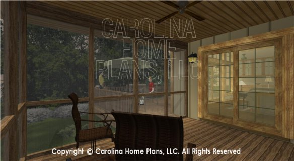 SG-1799 3D Screened Porch to Deck