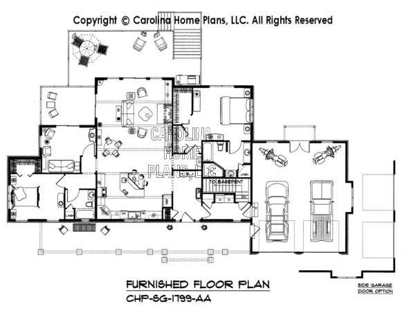 SG-1799-AA Furnished Main Floor Plan