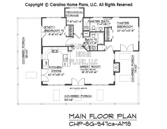 SG-947 Main Floor Plan-Crawl/slab