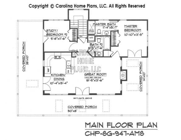 SG-947 Main Floor Plan