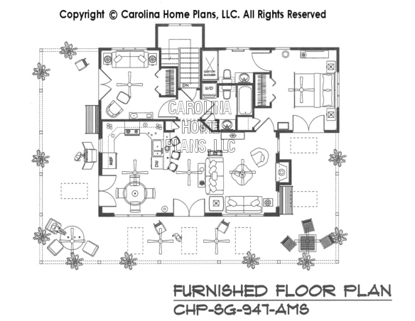 SG-947-AMS Furnished Main Floor Plan