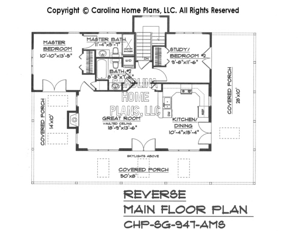 SG-947 Reverse Main Floor Plan