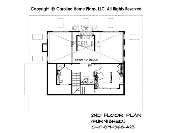 SM-1568-A2S Furnished 2nd Floor Plan