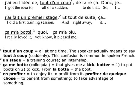 Fluent French footnotes