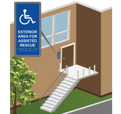 Exterior Area For Assisted Rescue Wall Signs Rath Area