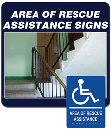 Area of Rescue Assistance Signage