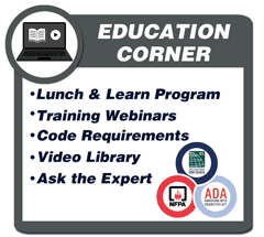 RATH® Area of Refuge Education Corner includes: Lunch and Learn Program, Training Webinars, Video Library, Code Requirements and Ask the Expert Series