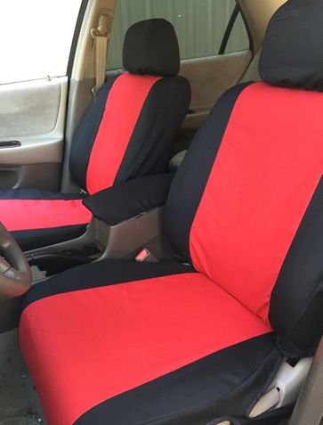Black/Red Seat Cover
