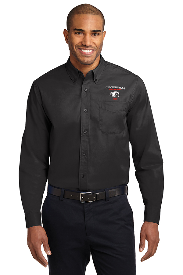 Long Sleeve Button Up Black
