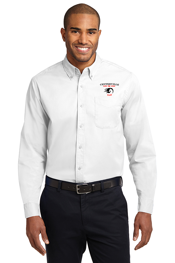 Long Sleeve Button Up White