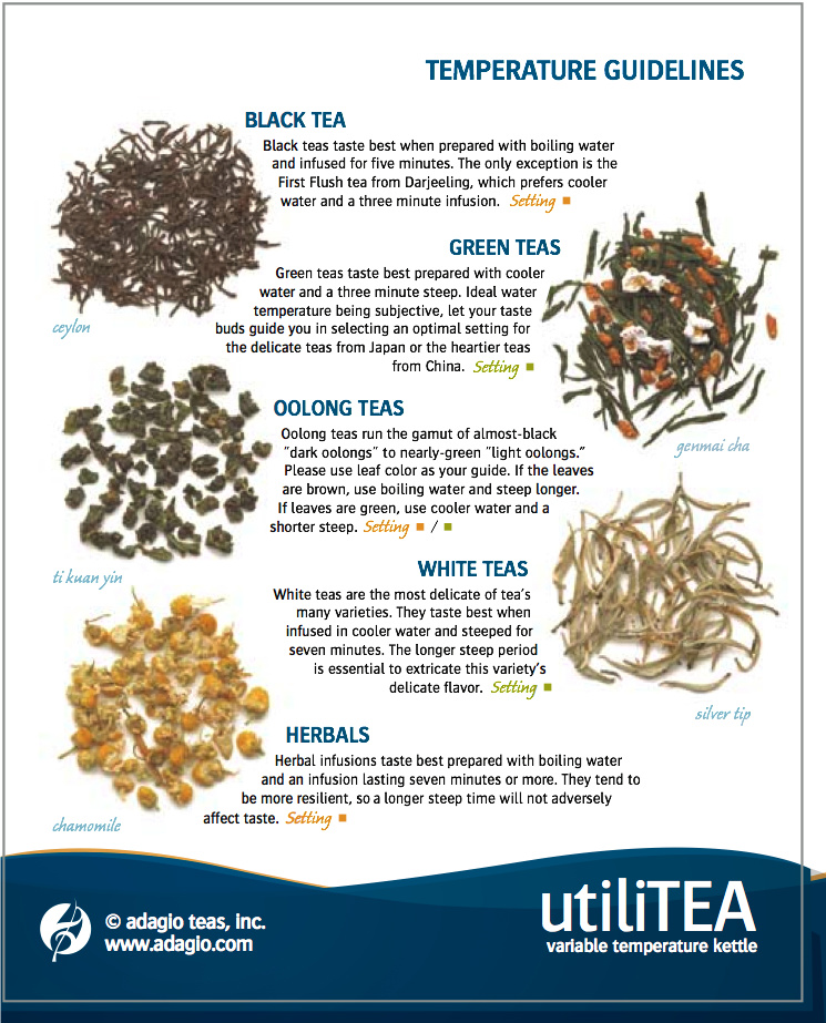 Second page utiliTea instructions from Adagio