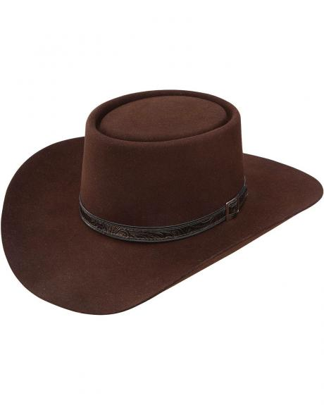 The Gambler or Telescope style hat has a flat-topped crown 7ed630a4eee
